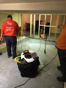 Technicians Cleaning Carpet After A Flood